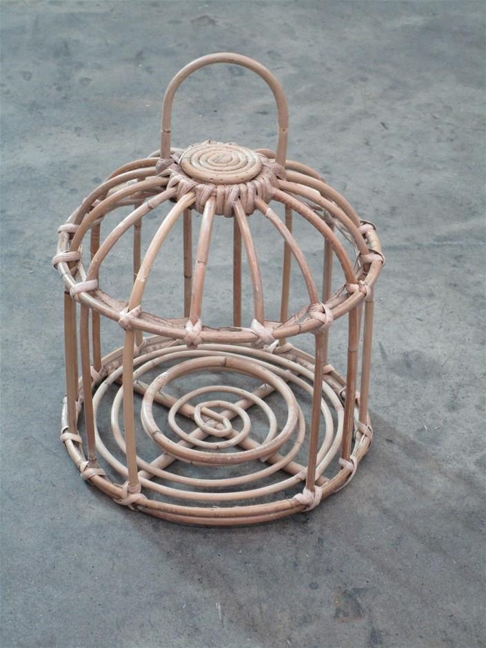 Pallet of 18 Rattan Round Lanterns (No Glass)