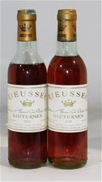 Chateau Rieussec Sauternes 1978 (2x 375ml), Bordeaux. Cork closure.