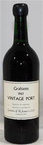 Grahams Vintage Port 1963 (1x 750ml)