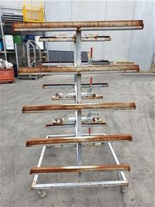 Five Teir Steel parts trolly rack on cas