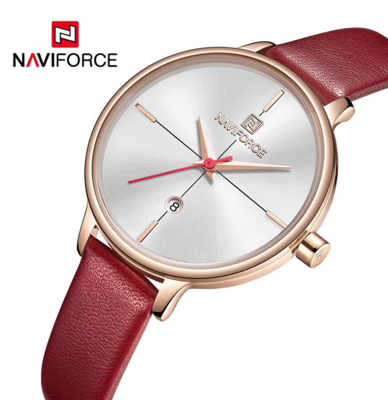 Naviforce Ladies Stylish Watch Leather Bracelet NF-5006 RGWR