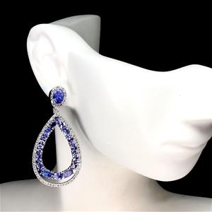 Incredible Genuine Tanzanite Hoop Earrin