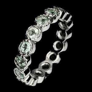 Beautiful Genuine Apatite Eternity Ring.