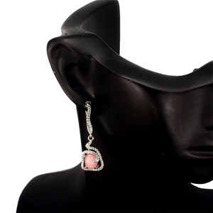 Beautiful Genuine Pink Opal Drop Earring