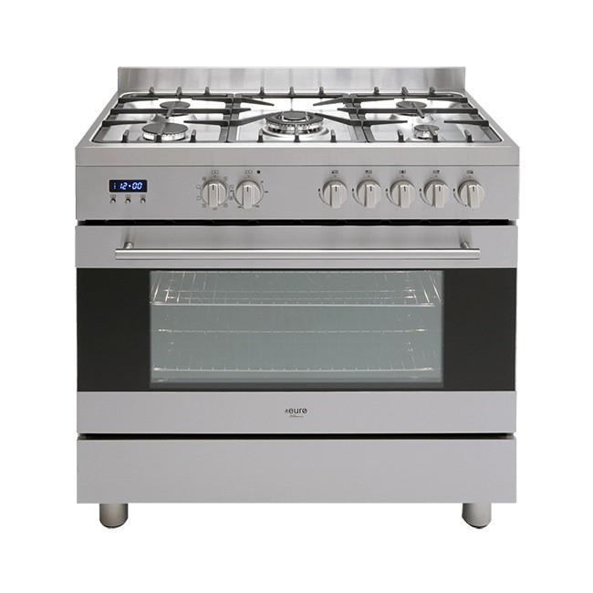 Euro 90cm Dual Freestanding Oven, Model: EV900DPSX