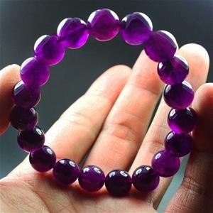 139ct. Genuine Amethyst Beaded Bracelet