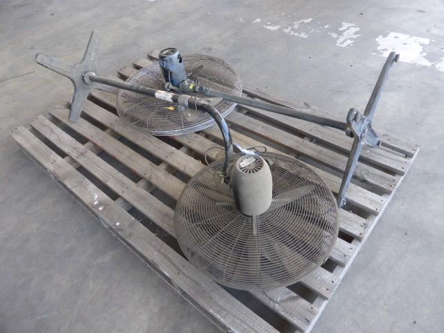 Qty 2 x Industrial Pedestal Fans (Pooraka, SA)