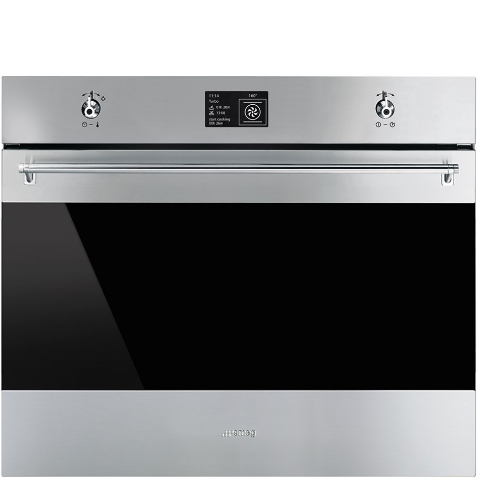 Smeg 70cm Classic Aesthetic Pyrolytic Wall Oven, Model: SFPA7395X