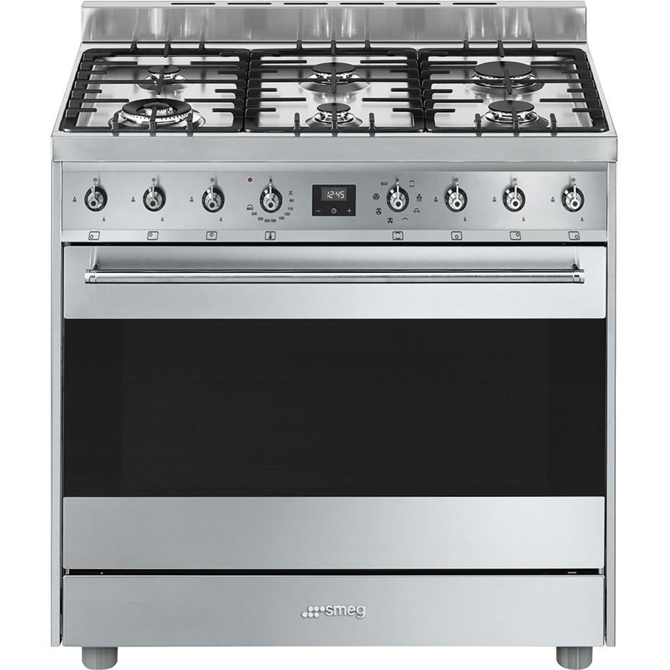 Smeg 90cm Stainless Steel Freestanding Cooker, Model: CS9GMXHA
