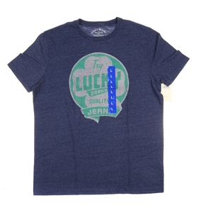 2 x LUCKY BRAND Men`s Logo Graphic Crew