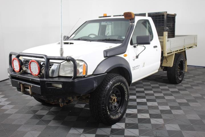 2008 Nissan Navara DX D22 4x4 T/Diesel Cab Chassis Ute