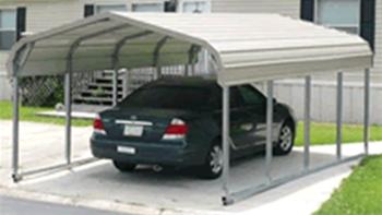 Unused Single Vehicle Portable Heavy Duty Steel Prefabricated Carport Kit