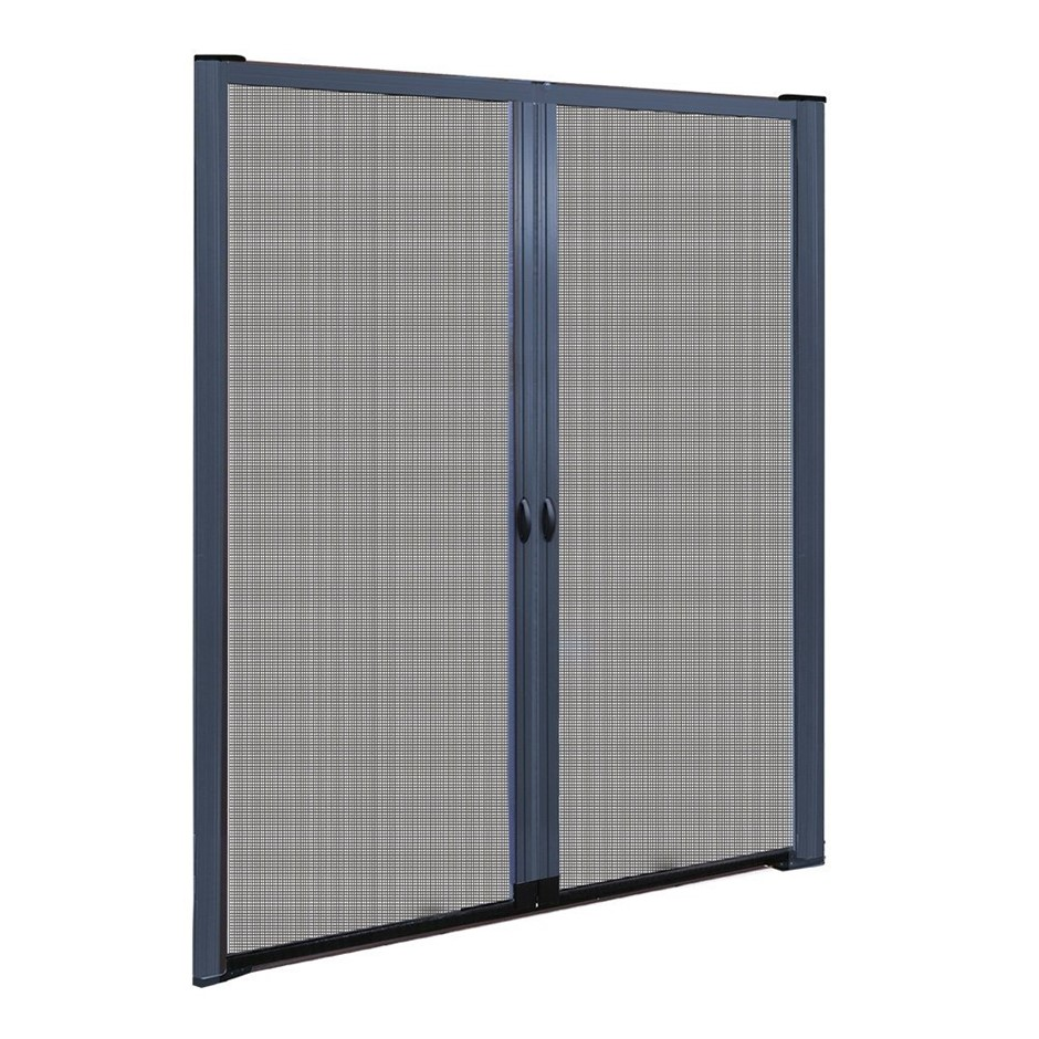 Instahut Retractable Magnetic Fly Screen Door Mesh Sliding 2.3m x 2.4m