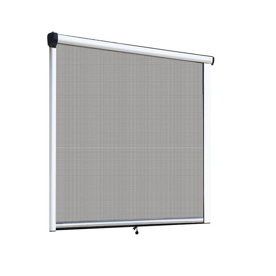 Instahut Retractable Window Fly Screen Flyscreen Mesh DIY 1.8m x 1.5m White