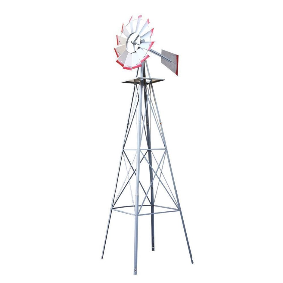 Garden Windmill 4FT 146cm Metal Ornaments Outdoor Decor Wind Will