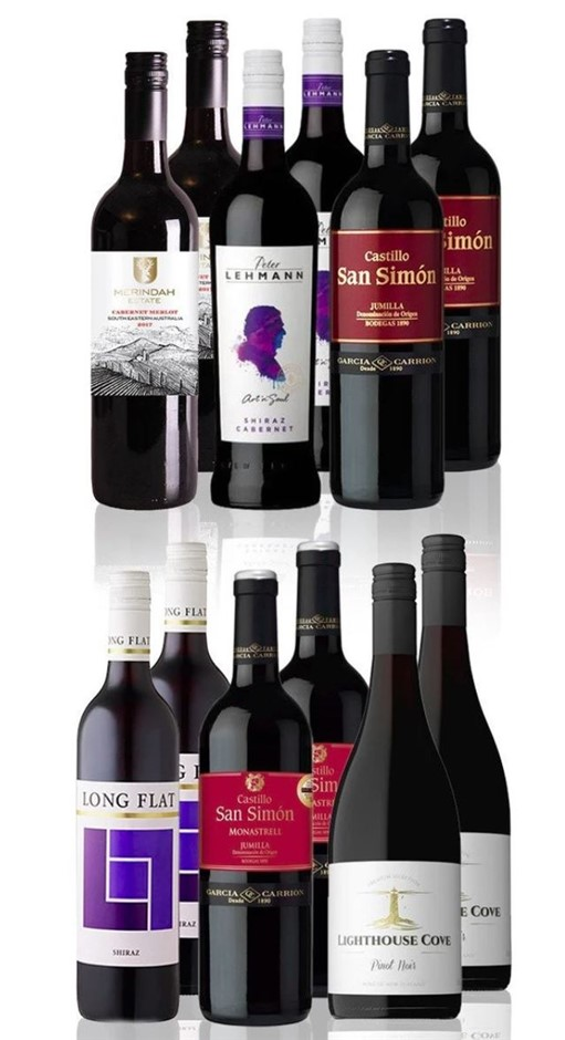 Premium Mixed Red Dozen feat. Peter Lehmann Shiraz Cabernet (12x 750mL)