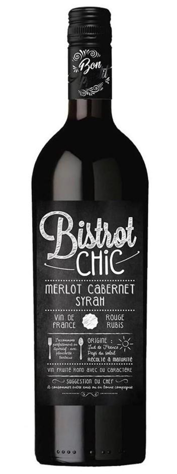 Bistrot Chic Merlot Cab Syrah 2016 (6x 750mL) Bordeaux, France