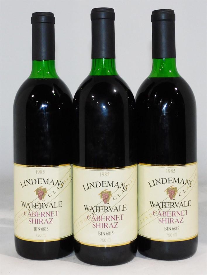 Lindemans `Bin 6815` Watervale Cabernet Shiraz 1985 (3x 750ml)