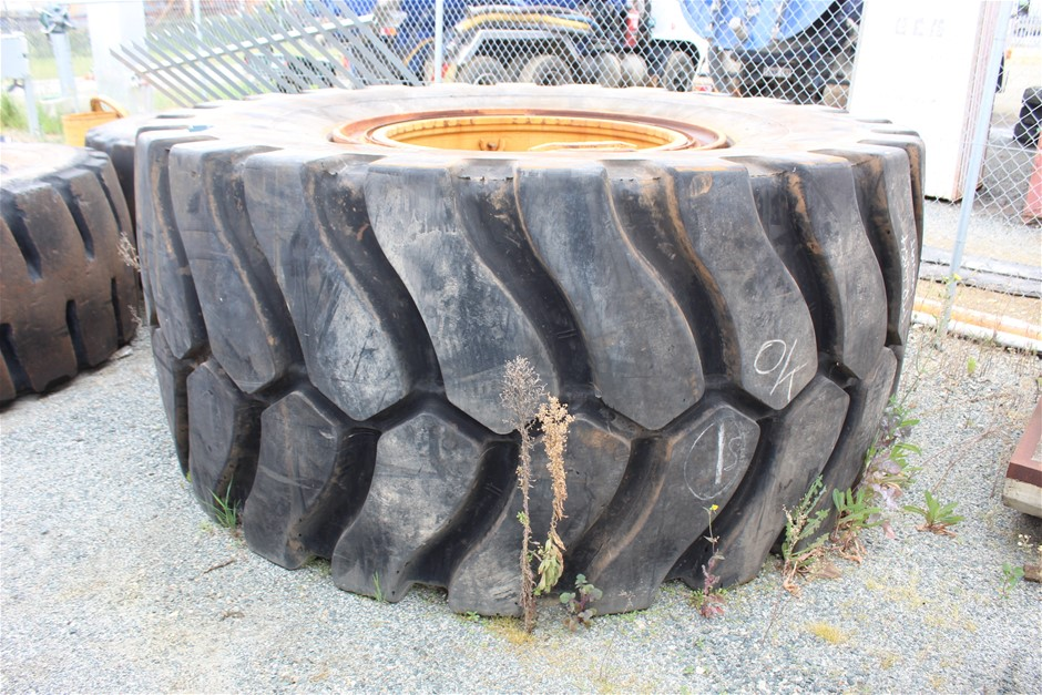 2x Earth Moving Machine Tyres