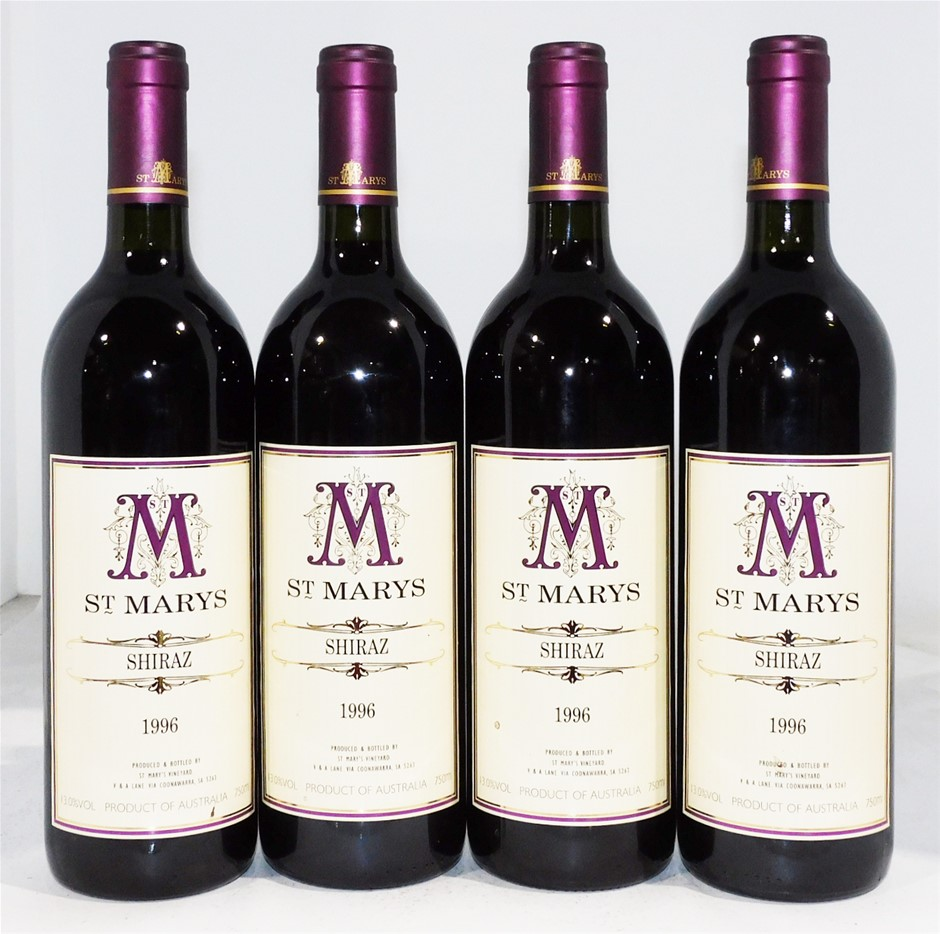 St Marys 'Coonawarra' Shiraz 1996 (4x 750ml)