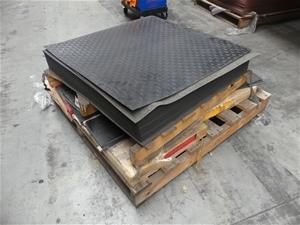 Qty Assorted x PRF Rubber Floor Tiles