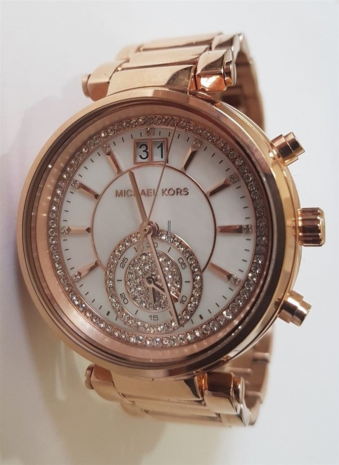 Ladies new Michael Kors Couture NY 'Sawyer' very elegant rose gold watch