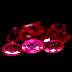 6.22ct. Genuine oval facet Pinkish Red R