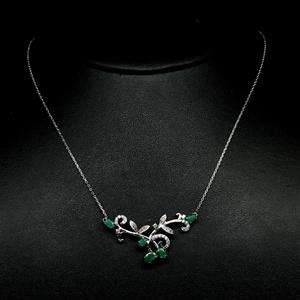 Stunning Genuine Emerald Necklace