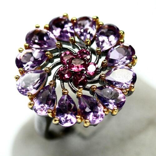 Purple Amethyst Rhodolite Garnet Ring. Size 'N'