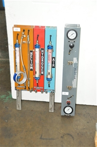 GC gas purification manifold for Helium,