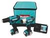 MAKITA 2pc 18V Cordless Combo Kit c/w Drill Driver Impact Driver, 2 x Batte