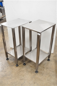 (Qty of 2) Benches, stainless steel: 51c