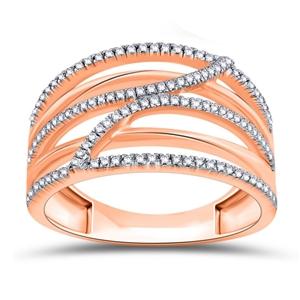 9ct Rose Gold, 0.19ct Diamond Ring