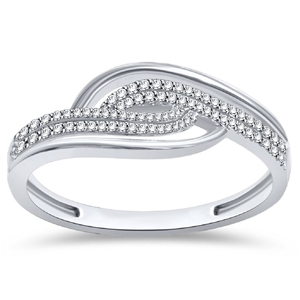 9ct White Gold, 0.12ct Diamond Ring