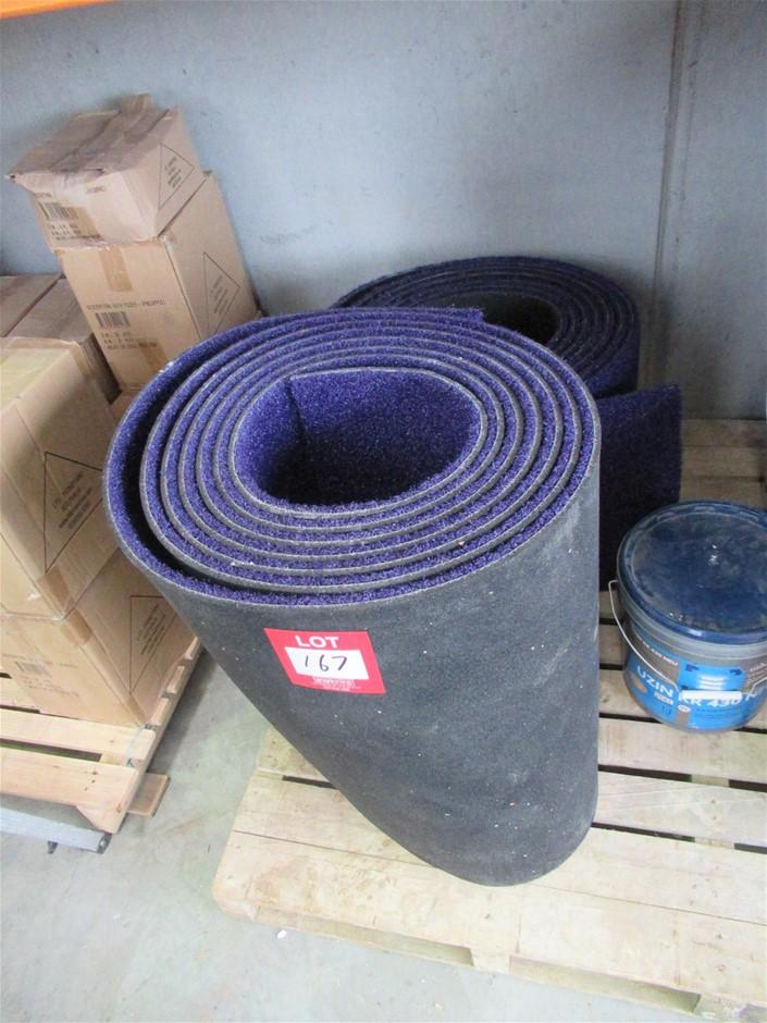 Purple Synthetic Turf 2 Offcut Rolls