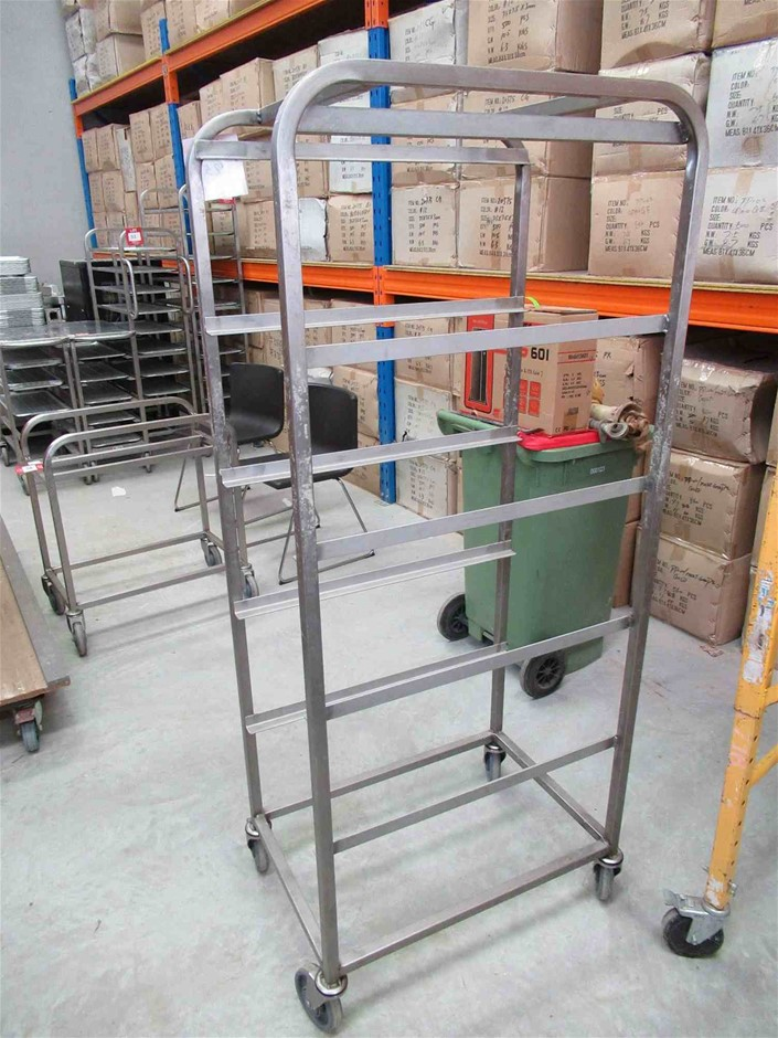5 Tier Stainless Steel Tray Trolley