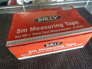 Qty 12x Rally Measuring Tapes (Pooraka,
