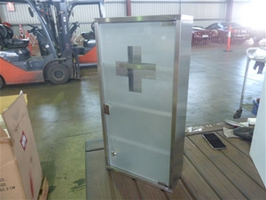 Qty 3x Stainless Steel Medical Cabinets