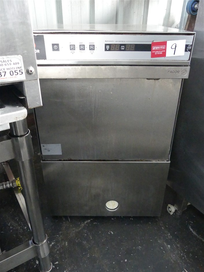 2012 Fagor AD-21 B DD A Underbar Stainless Steel Glass Washer
