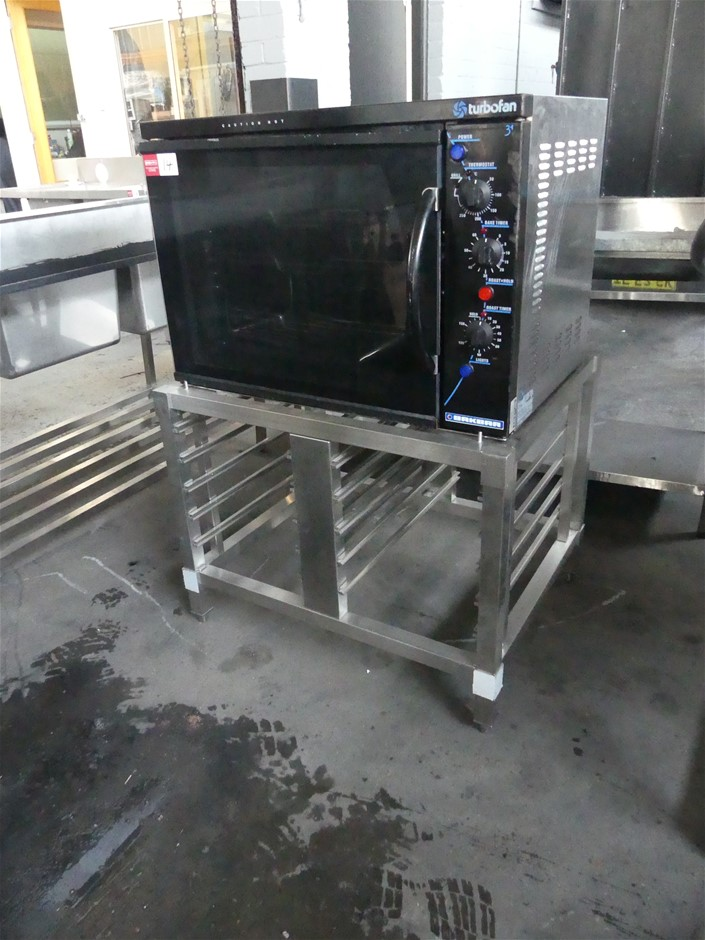 Bakbar Turbofan E311 Stainless Steel Oven on Stainless Steel Tray Rack