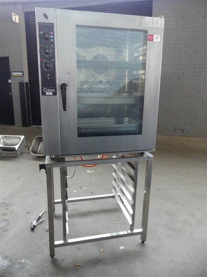 2013 Cobra CMC10 Stainless Steel Combi Oven on Stainless Steel Tray Rack