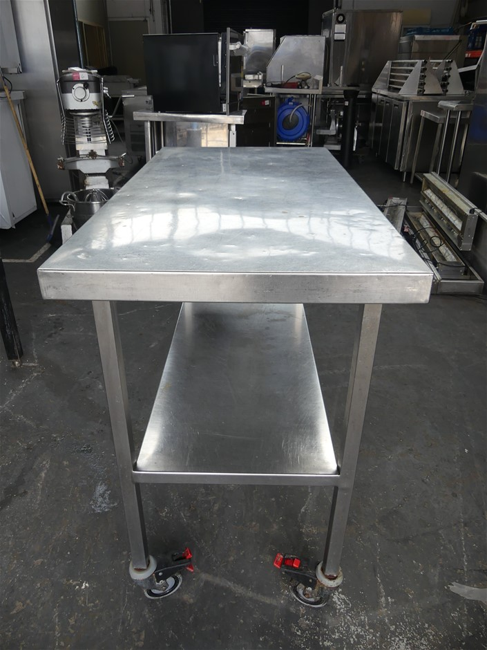 Stainless Steel Mobile Food Preparation Bench
