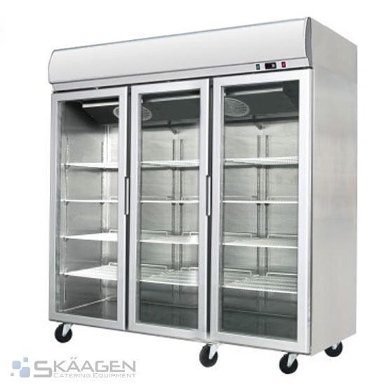 Unused 1400L YCF03-LB Triple Glass Door Display Freezer