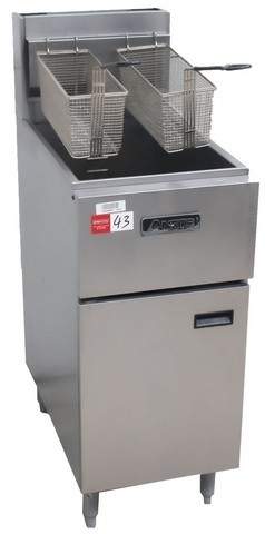 ANETS GAS SINGLE PAN DEEP FRYER, QUALITY COMMERCIAL KITCHEN EQUIPME
