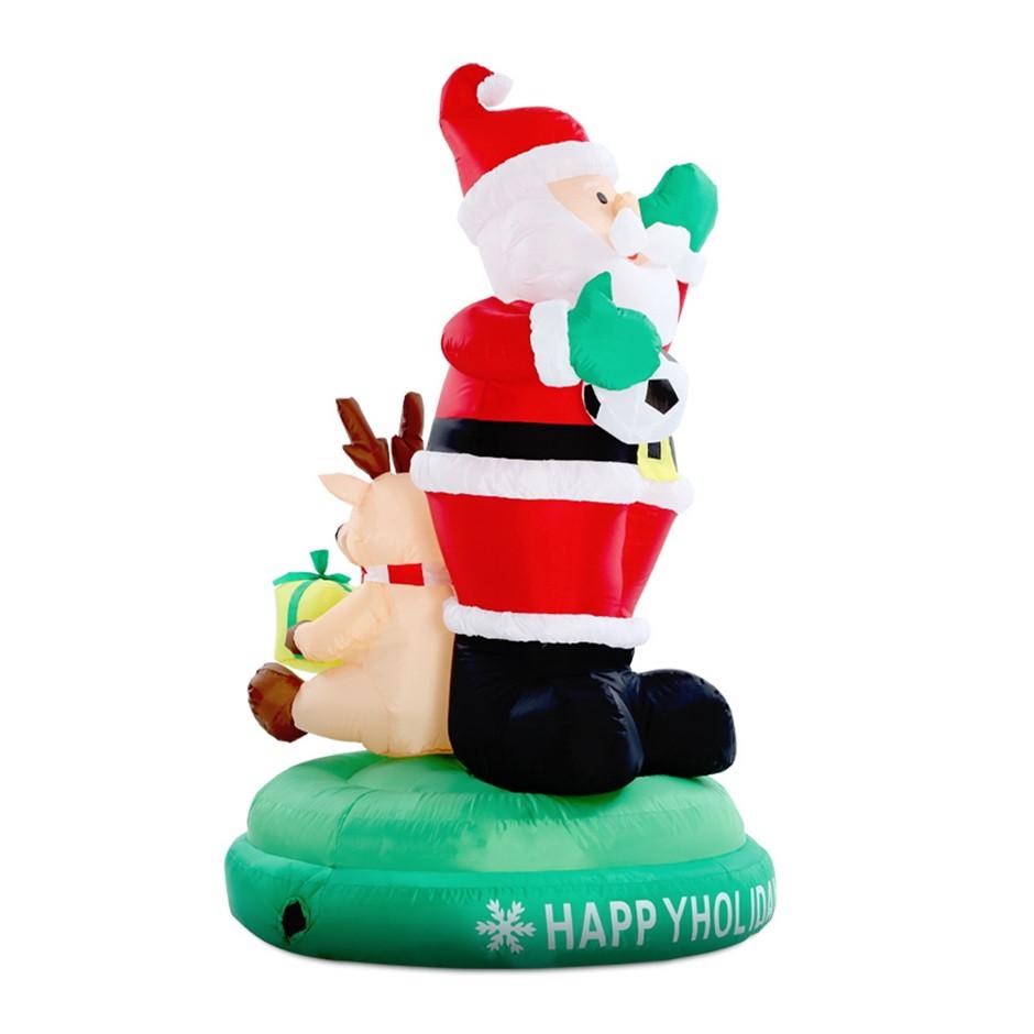 Jingle Jollys Christmas 1.8M Inflatables Santa Reindeer Light Decoration