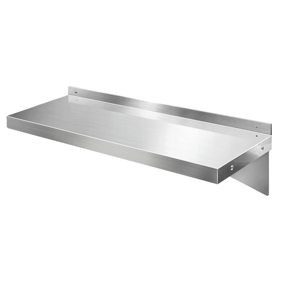 Cefito Stainless Steel Wall Shelf Kitchen Mounted Display Shelving 900mm