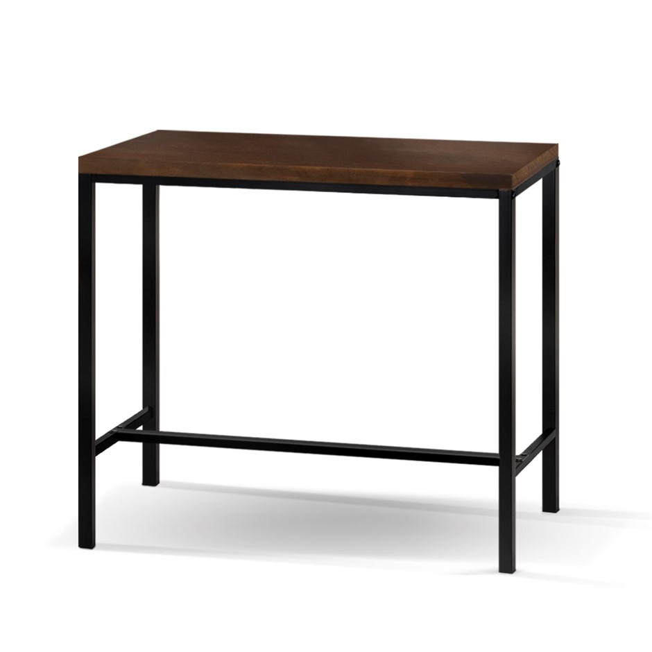 Artiss Vintage Industrial High Bar Table for Stool Kitchen Desk Dark Brown