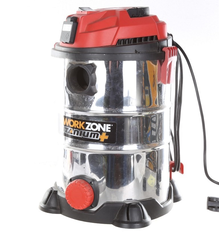 WORKZONE 25L Wet & Dry Vacuum Cleaner w/ Dust Extractor, 1250W Motor. N.B.