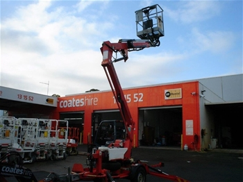 10.2m Trailer Mounted Boom - 2009 Nifty 120TPE Petrol/Electric
