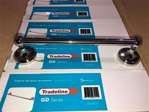 5 x Single Towel Rails 300mm, Brand: Bre